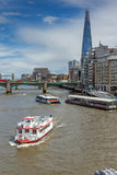 LONDON, ENGLAND - JUNE 15 2016: Panoramic view of Thames River in City of London, England Stock Image