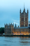 LONDON, ENGLAND - JUNE 16 2016: Sunset view of Houses of Parliament, Westminster palace, London, England Stock Image