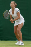 LONDON, ENGLAND-JUNE 22, 2009: Tennis player Petra Cetkovska in Royalty Free Stock Images