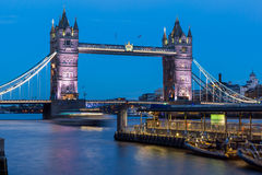 LONDON, ENGLAND - JUNE 15 2016: Tower Bridge in London in the Night, England Royalty Free Stock Photography
