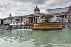 LONDON, ENGLAND - JUNE 16 2016: Trafalgar Square, City of London, England Stock Image
