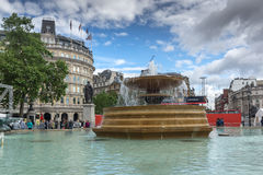 LONDON, ENGLAND - JUNE 16 2016: Trafalgar Square, City of London, England Stock Photography