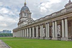 LONDON, ENGLAND - JUNE 17 2016: University of Greenwich, London, United Kingdom. LONDON, ENGLAND - JUNE 17 2016: University of Greenwich, London, England, United Royalty Free Stock Photography