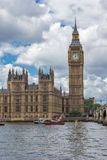 LONDON, ENGLAND - JUNE 15 2016: Westminster Bridge and Big Ben, London, United Kingdom Royalty Free Stock Photo