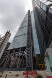 London England - Juni 18 2016: Fantastisk sikt av affärsbyggnad i stad av London Arkivfoton