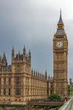 LONDON ENGLAND - JUNI 16 2016: Hus av parlamentet, Westminster slott, London, England Arkivbilder