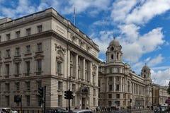LONDON ENGLAND - JUNI 16 2016: Whitehall gata, stad av London, England Fotografering för Bildbyråer