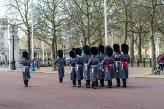 London, England - March 06, 2017: The change of the guards in fr Stock Photography