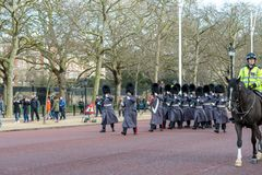 London, England - March 06, 2017: The change of the guards in fr Royalty Free Stock Photo