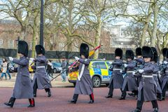 London, England - March 06, 2017: The change of the guards in fr Stock Photo