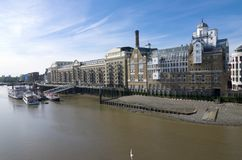 Butler`s Wharf and the River Thames in London