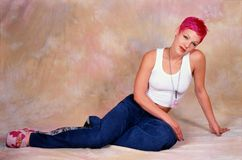 Female singer Pink stock image