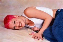Female singer Pink stock images