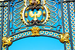 In london england   metal gate  royal palace Royalty Free Stock Photography