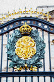 In london england the  metal gate  royal palace Royalty Free Stock Images