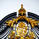 In london england the  metal gate  royal palace Royalty Free Stock Photos
