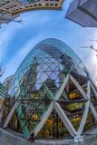 The famous Gherkin Tower, London Royalty Free Stock Photos