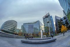 Modern and spectacular office buildings on More London Riverside Stock Photos