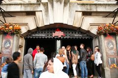 London dungeon scene. stock images