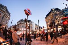 LONDON, ENGLAND - OCTOBER 30, 2015: Oxford street on sale season Royalty Free Stock Photos