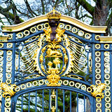 In london england the  ol d  metal gate  royal palace Royalty Free Stock Image