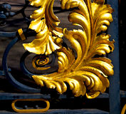 in london england the old metal gate  royal palace Royalty Free Stock Photos