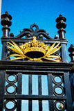 In london england the old metal gate  royal palace Stock Images
