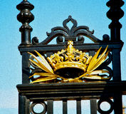 In london england the old  metal gate  royal palace Stock Photography