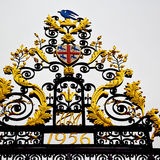 In london england the      old metal gate  royal palace Royalty Free Stock Images