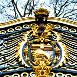 in london england the     old metal gate  royal palace Stock Photos