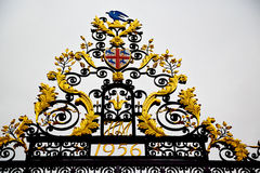 in london england the      old metal gate  royal palace Royalty Free Stock Image