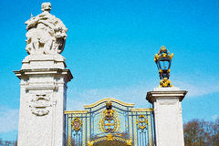 In london england  old metal gate  royal palace Stock Photo