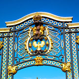 In london england the old metal gate  royal palace Stock Photo