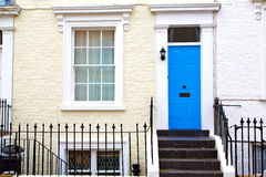In london england old suburban     wall door Royalty Free Stock Images