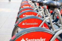 London/England – 09.09.19 : London public city bike rental santander