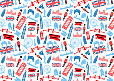 London, England Seamless Pattern. Vector and Illustration Royalty Free Stock Image