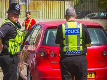 London, England am 3. September 2014: Polizei auf typische Englisch Stockfotografie
