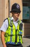London, England am 3. September 2014: Polizei auf typische Englisch Lizenzfreie Stockbilder