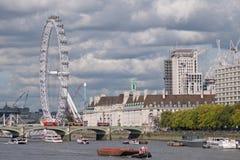 View of London around Westminster bridge Royalty Free Stock Photo