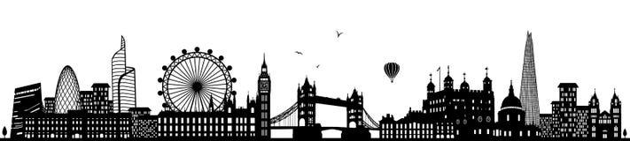 London england skyline black isolated vector