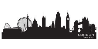 London, England skyline. Detailed vector silhouette. London, England skyline. Detailed silhouette. Vector illustration Royalty Free Stock Images