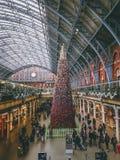 London England - St Pancras internationell station Royaltyfria Bilder