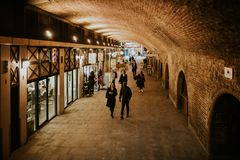 The Arches Shopping, in Craven Passage. London, England. stock photos