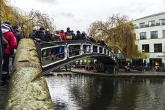 Bridge over a canal in London, England, United Kingdom Royalty Free Stock Images