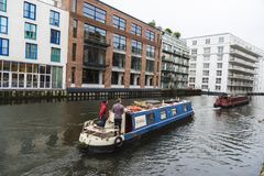 Ships navigating in London, England, United Kingdom Stock Photos