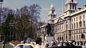 Government Offices Great George Street in London stock footage