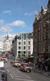 London England upptagen gata Royaltyfri Bild