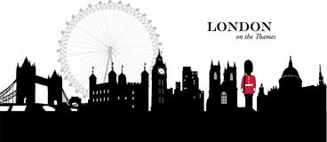 London, England. Vector illustration of the cityscape skyline of London, England stock illustration