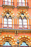 in london england windows and brick exterior    wall Stock Photos