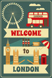 London. English Card with British theme. Vector Illustration Stock Photo